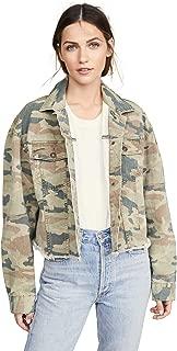 Women's Camo Print Denim Jacket