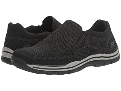 SKECHERS Relaxed Fit Expected Gomel (Black Knitted Mesh) Men