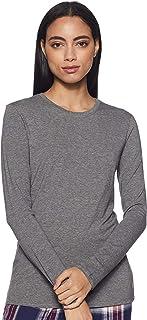 Enamor Women's Plain Slim Fit T-Shirt