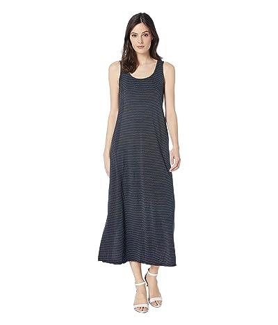 Fresh Produce Pinstripe Juliet Maxi Dress (Black) Women
