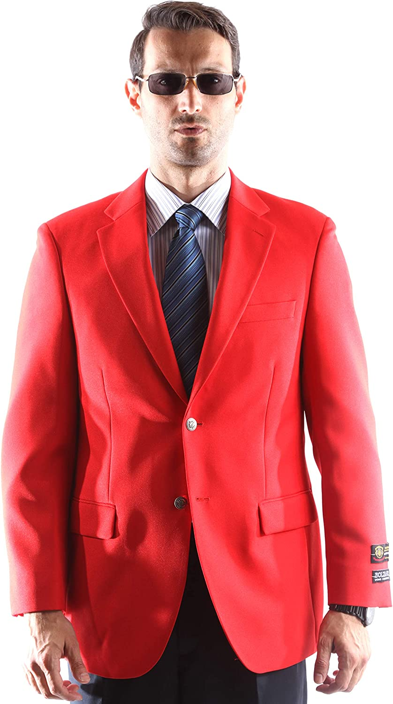 Men's Single Breasted Two Button Blazer