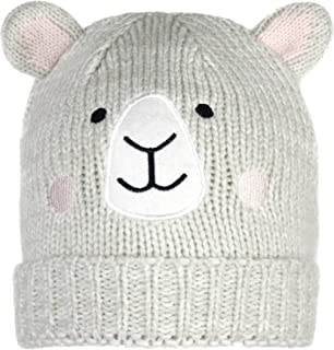 Cute Woodland Critter Knit Beanie Cap- Children's Warm Winter Animal Hat with Ears