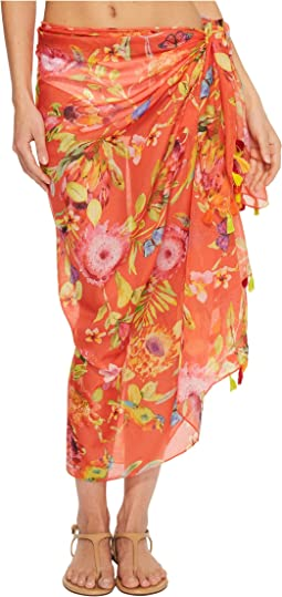Echo Design Melba Floral Tassel Pareo Cover-Up