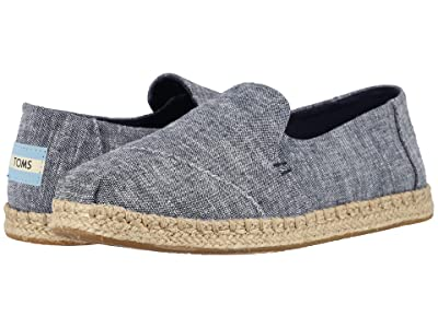 TOMS Deconstructed Alpargata Rope (Navy Chambray) Women