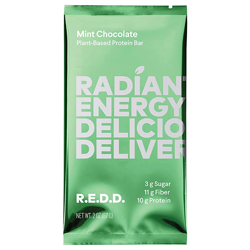 Redd Mint Chocolate Superfood Energy Bar 12 Pack (Packaging May Vary)