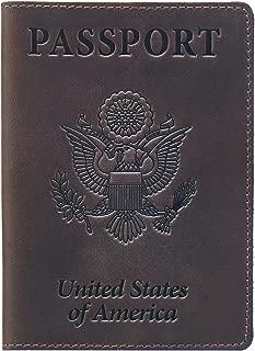 Leather Passport Cover - Holder - for Men & Women - Passport Case