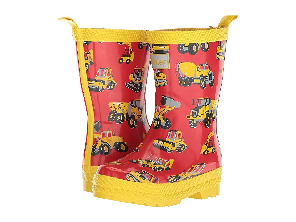 Hatley Kids Heavy Duty Machines Rain Boots (Toddler/Little Kid) (Red) Boys Shoes
