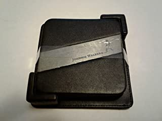 Set of 4 Johnnie Walker Black Label Scotch Whisky Walking Man Logo Leather Coasters with Holder