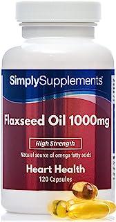 Aceite de Linaza 1000mg - 120 Cápsulas - SimplySupplements