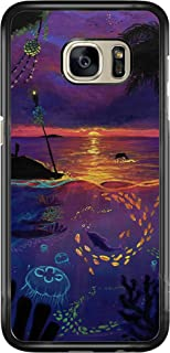 SEENPIN Galaxy S7 Case Beach of Sunset [Shock Absorption] Case Cover for Samsung Galaxy S7