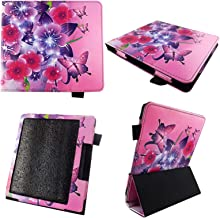 Butterfly Flower Pink Case for All-New Kindle Oasis 7 Inch (10th Generation, 2019 Release) - Premium Lightweight PU Leather Slim Sleeve Cover with Auto Sleep Wake for Amazon Kindle Oasis E-Reader