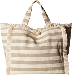 Fringed Canvas Tote