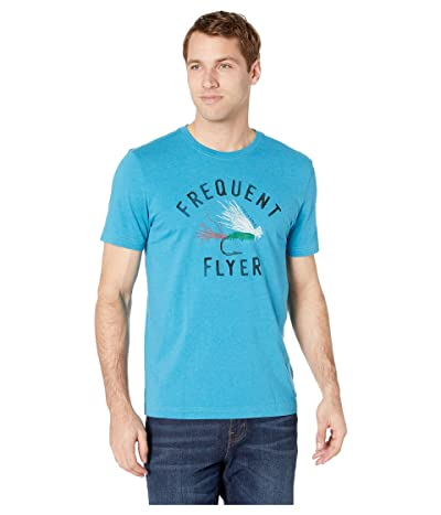 Life is Good Frequent Flyer Crusher Tee (Heather Seaport Blue) Men