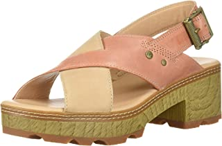 Caterpillar Women's Lia Adjustable Back Strap Leather CRIS Cross Sandal Heeled