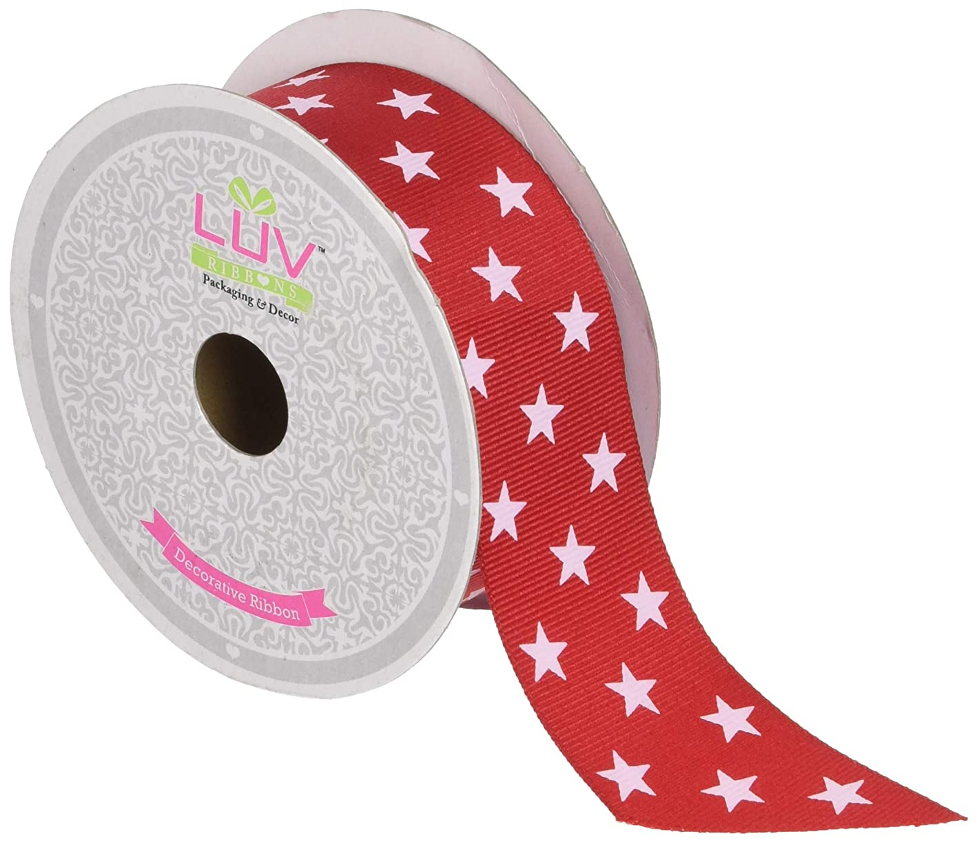 Creative Ideas GCS1102-250 Grosgrain Cosmic Star Ribbon, 1 1/2