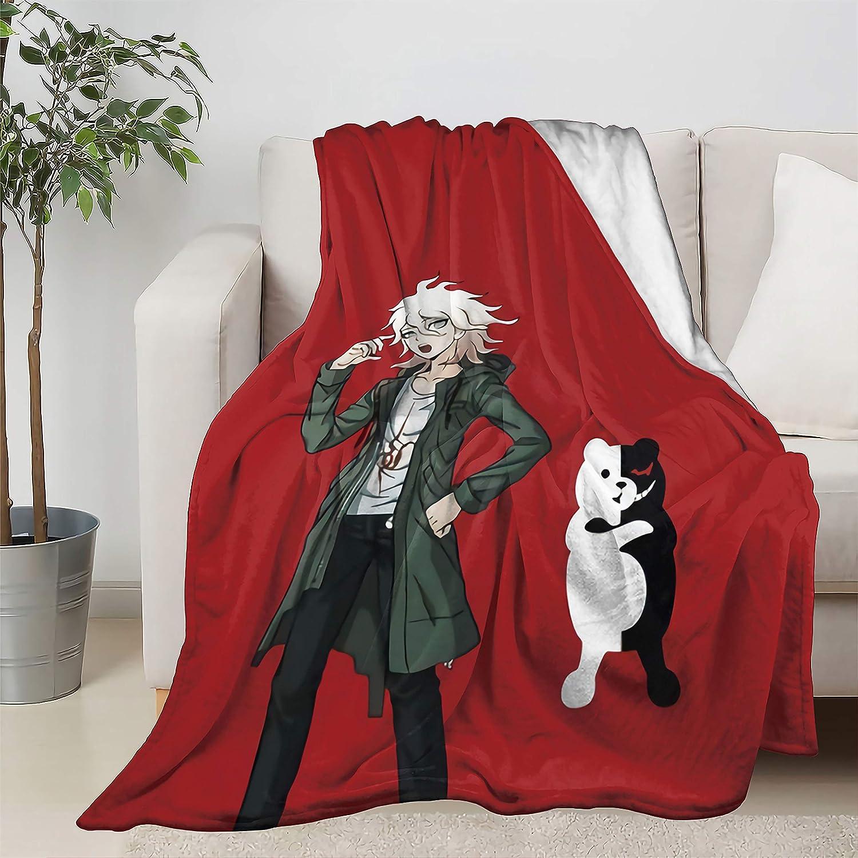 Nagito Komaeda Anime Manga Throw Pl Soft Quilt 贈答 低価格 Bedspread Blanket