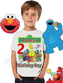 Sesame Street Birthday Shirt, Family Birthday Shirt, Elmo Birthday Boy Shirt, Sesame Street Birthday Party Favor, Boy Birthday Shirt, Cookie Monster, Elmo, Big Bird, Abby, Elmo Shirt, Visit Our Shop