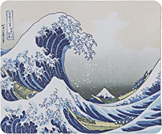 "Mouse Mat - The Great Wave - Art Design 8.5"" x 7"" - by TRIXES"