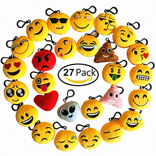 Time Killer Emoji Keychain 27 Pack Birthday Party Supplies Favors Gift For Kids Students Christmas