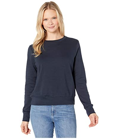 Alternative Cotton Modal Interlock Pullover Crew Neck Sweatshirt (Midnight) Women