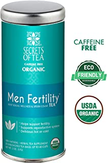 Secrets of Tea-Get Pregnant Fertility Tea -USDA Organic- Natural Fertility Support- 40 Servings- Improves Hormone Balance & Cycle Regulation - (Men Fertility)