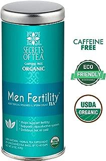 Secrets of Tea-Get Pregnant Fertility Tea -USDA Organic- Natural Fertility Support- 40 Servings- Improves Hormone Balance & Cycle Regulation - (Men Fertility)