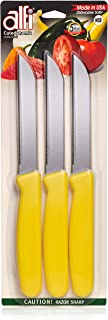 ALFI KNIVES Sunny Yellow (Cutodynamic Stainless Steel 3-Pack) Made In USA