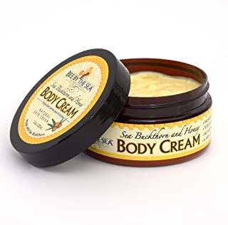 Bee by the Sea Natural Sea Buckthorn and Honey Body Cream for Daily Moisturizing, 7.5 oz
