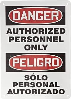 solo personal autorizado sign