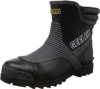 [福山ゴム] フクヤマゴム FUKUYAMA RUBBER メッシュ繊維ショート鉄先芯長靴 Gレックス#3