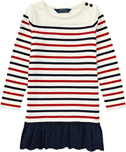 Polo Ralph Lauren Kids - Striped Cotton Jersey Dress (Toddler)