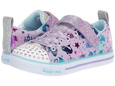 SKECHERS KIDS Twinkle Toes Sparkle Lite 314052L (Little Kid/Big Kid) (Lavender/Multi) Girl
