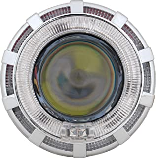 Allextreme Projector Lamp High Intensity Led Headlight Lens Projector,( High Beam, Low Beam, Flasher Function),(Blue And Red)