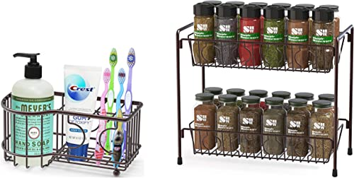 popular Simple Houseware wholesale Multi-Functional high quality 6 Slots Toothbrush Holder + SimpleHouseware 2-Tier Countertop Organizer online
