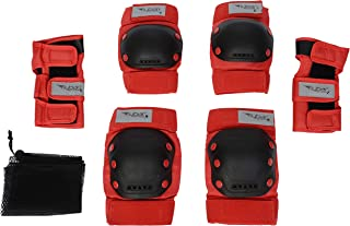 Flybar Knee and Elbow Pads, Wrist Guards Protective Safety Gear Set - Multi Sport Protection for Skateboarding, BMX, Pogoing, Inline Skating, Scooter - Kids, Teen & Adult Sizes