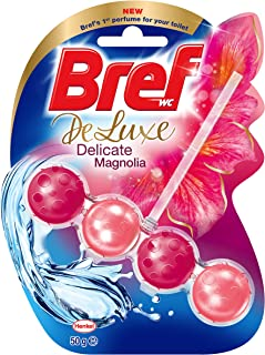 Bref Deluxe Delicate Magnolia Rim Block Toilet Cleaner 50g