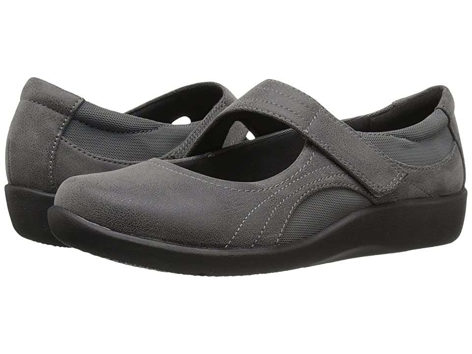 Clarks Sillian Bella (Grey Synthetic Nubuck) Women's  Shoes