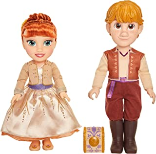 Disney Frozen 2 Anna & Kristoff Dolls Proposal Gift Set, Comes with Ring & Ring Box! Features Authentic Film Details & Des...