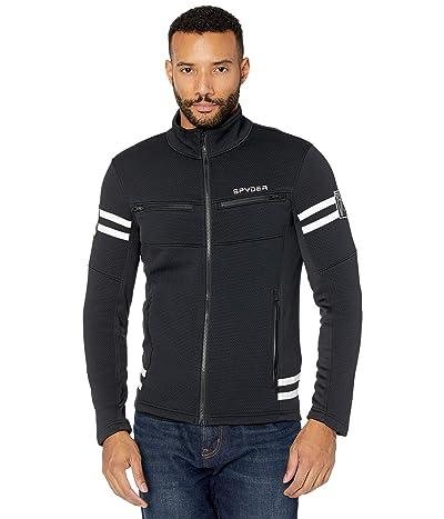 Spyder Wengen Encore Full Zip Fleece Jacket (Black) Men