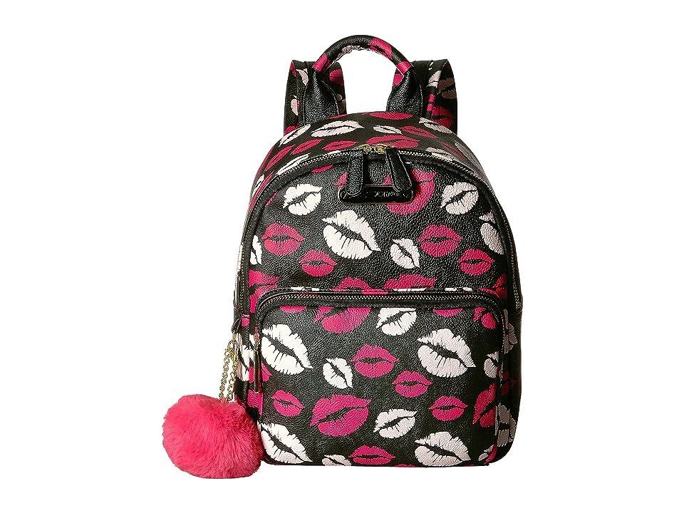 Betsey Johnson Medium Backpack (Black Multi) Backpack Bags