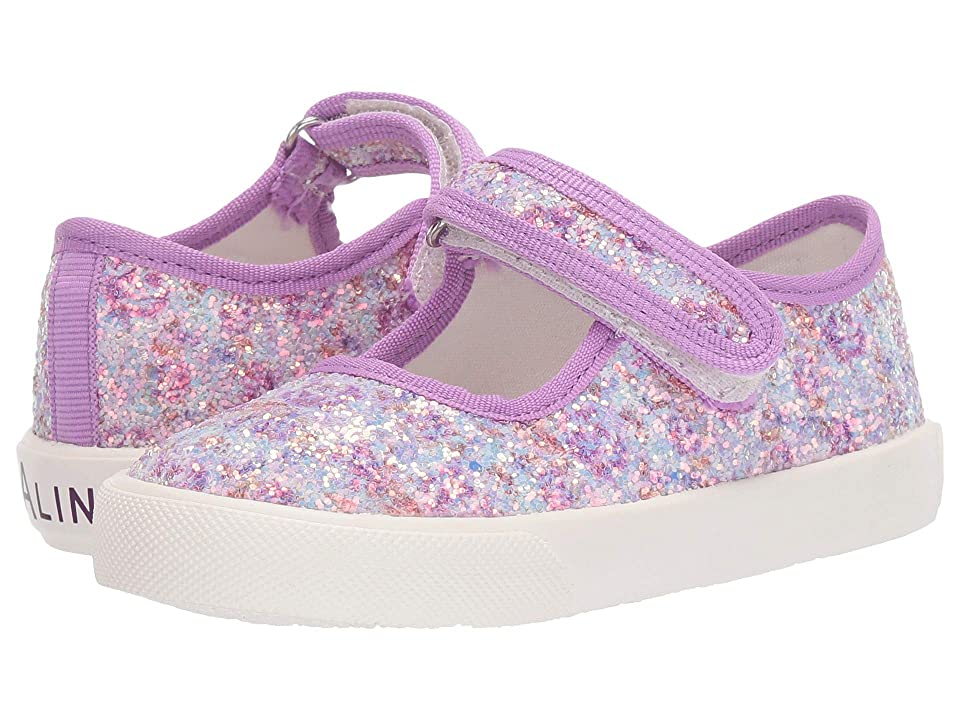 Amiana 6-A0838 (Toddler/Little Kid/Big Kid) (Purple Floral Glitter) Girls Shoes