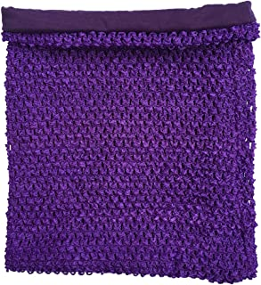 momtutus Purple Crochet Tutu Top Lined 12 Inches X 10 Inches Elastic Crochet Tube Top, Large