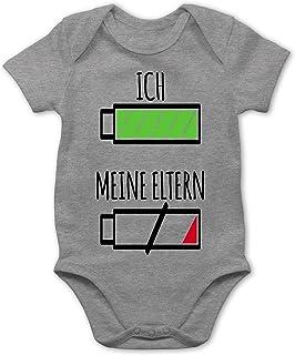 Shirtracer Ich und meine Eltern Batterie - Baby Body Kurzarm für Jungen und Mädchen