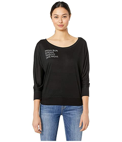 Date Night Batwing L/S Dolman Top
