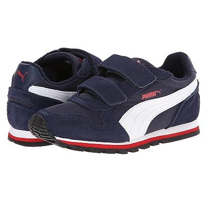 Puma Kids ST Runner NL V (Toddler/Little Kid/Big Kid) (Peacoat/White/High Risk Red) Boys Shoes