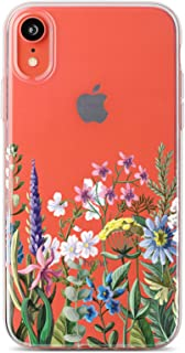 CASE Yard Clear iPhone Xr Case with Design Slim-Fit Protective Soft TPU Bumber | iPhone Xr Flower Bouquet