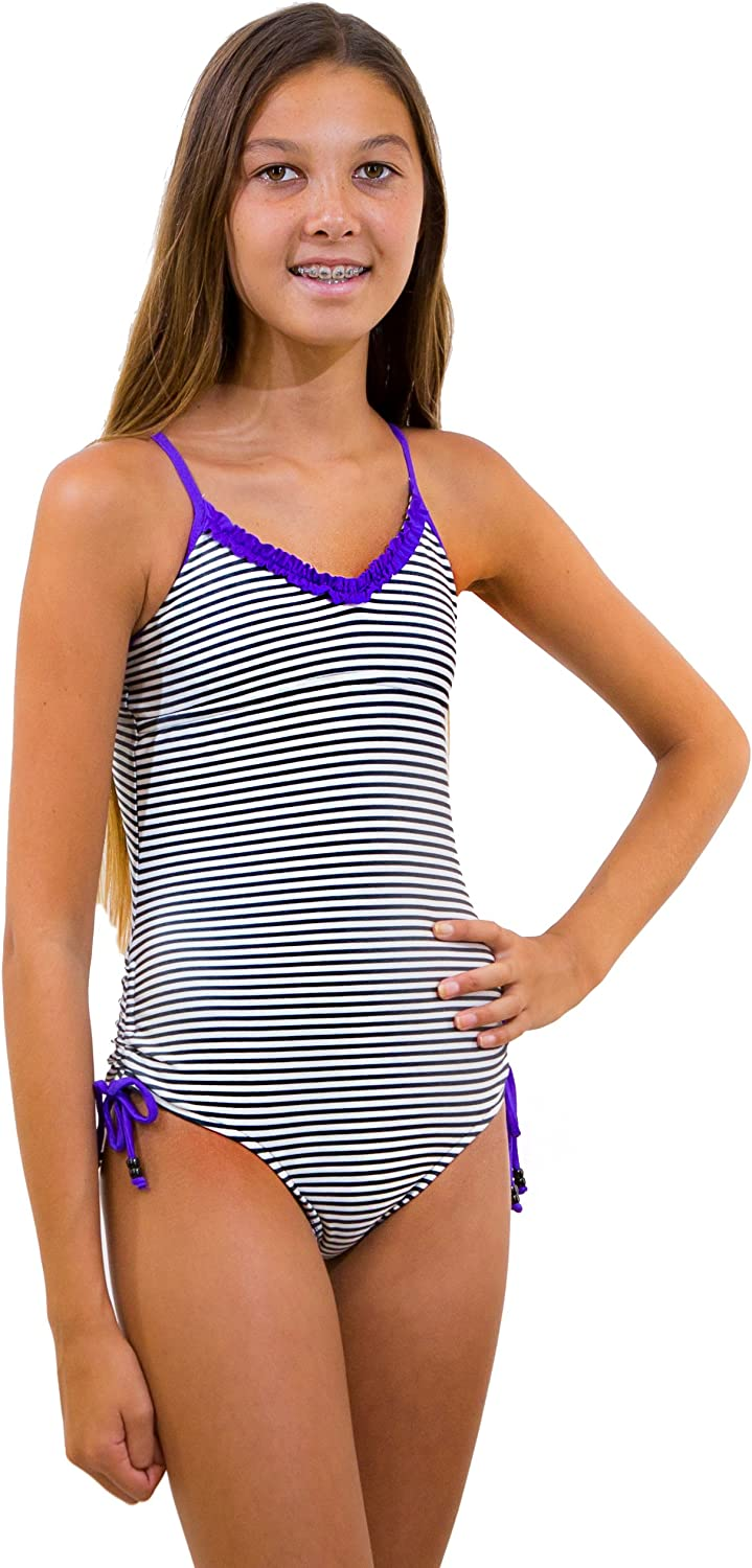 Amazon Com Point Conception Girls 7 16 Let S Cha Cha Again 1 Piece Swimsuit Clothing