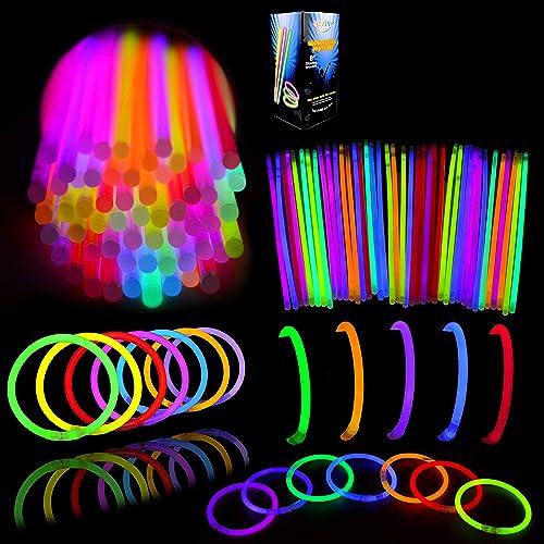 """Glow Sticks Bulk 400 8"""" Glowsticks (Total 800 Pcs 7 Colors); Glow Stick Bracelets; Glow Necklaces; Glow in the Dark, ..."""