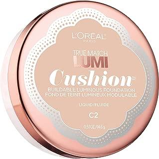 L'Oréal Paris True Match Lumi Cushion Foundation, C2 Natural Ivory, 0.51 oz.
