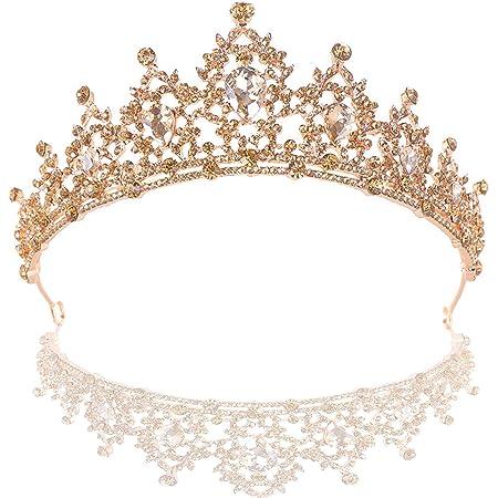 Schneespitze Bridal Tiara cerchietto,Sposa Cristallo Diadem Strass Corona principessa Wedding Tiara per Spettacoli Teatrali Per Matrimoni